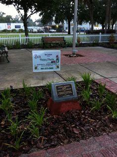 Butterfly garden and memorial at the Umatilla Public Library.