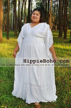 - Size Fancy Pagan Celtic Plus Size Curvy Figures Outfits Curvy Plus Size Gauze Costume Hippie Boho Bohemian Gypsy White Long Sleeve Funky Long Maxi Dress Plus Size Sundress, Plus Size Maxi Dresses, Plus Size Outfits, Boho Gypsy, Hippie Boho, Bohemian Costume, Gauze Clothing, White Clothing, Occasion Maxi Dresses