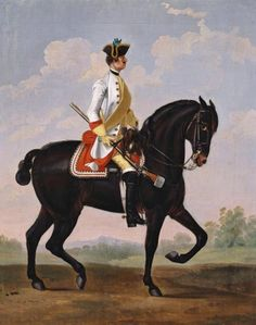 David Morier (1705?-70) - Private, Regiment of Horse 3A 'Wrede' Creator: David Morier (1705?-70) (artist) Creation Date:  c. 1749 Materials:  Oil on canvas Dimensions:  51.0 x 40.5 cm RCIN  404183 Reference(s):  HMD 129