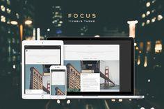 Focus Tumblr Theme by Lunar Designs on @creativemarket
