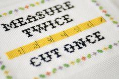 Free Subversive Cross Stitch Pattern: Measure 2x, Cut 1x : Home Improvement : DIY Network