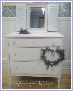 simply vintageous...by Suzan: Pink Dresser !!!