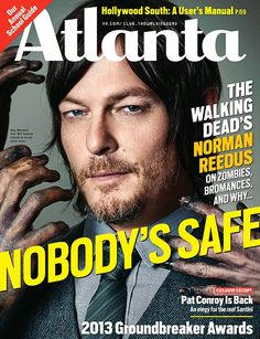 Norman Reedus on the cover of Atlanta Magazine