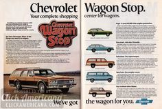 Chevy Vega, Chevelle, Suburban, Sportvan