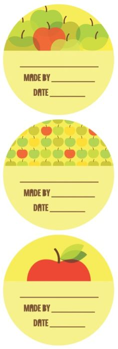 Printable Canning Labels