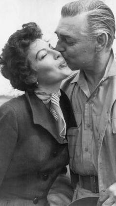 Clark Gable and Ava Gardner