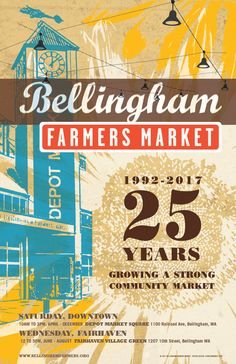 2017 Poster for the Bellingham Farmers Market, Rowan Moore-Seifred doublemranch.com