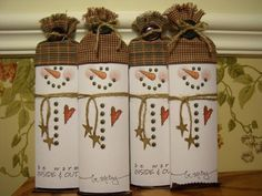 Hershey Snowman Bars!! by mitchygitchygoomy - Cards and Paper Crafts at Splitcoaststampers