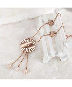 perle d'eau douce collier pendentif bijoux en gros de costume chinois