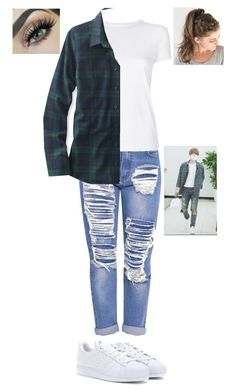"""""""EXO Baekhyun Inspired Outfit"""" by bazingabrittany on Polyvore featuring Helmut Lang, adidas Originals and L.L.Bean"""