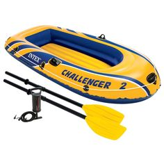 Intex Challenger 2, 2-Person Inflatable Boat Set with French Oars and High Output Air Pump (Latest Model) : Open Water Inflatable Rafts : http://amzn.to/2uq5k3b