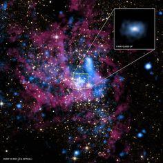Buraco negro no centro da Via Láctea vomita a maior parte do que devora | HypeScience
