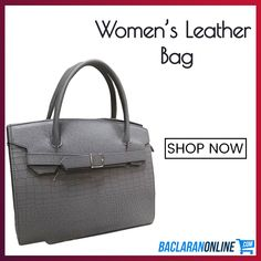 Gray Leather Bag for Women at Baclaran Online Grey Leather, Leather Bag, Women's Bags, Clutches, Shop Now, Handbags, Tote Bag, Gray, Shopping