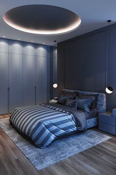 Modern luxury bedroom designs simply bring you meaningful change to get a great idea. Lighting design that makes this room worth inspiring. A bedroom that will House Ceiling Design, Ceiling Design Living Room, Bedroom False Ceiling Design, Master Bedroom Interior, Home Room Design, Living Room Designs, Best False Ceiling Designs, Bedroom Designs, Modern Luxury Bedroom