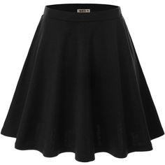 Doublju Women Plus-size Versatile Strechy Flared Skater Skirt ($20) ❤ liked on Polyvore featuring skirts, bottoms, saias, flare skirt, skater skirt, flared skirt, plus size skirts and plus size knee length skirts