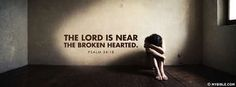 Psalms 34:18 NKJV - The Lord Is Near The Broken Hearted - Facebook Cover Photo