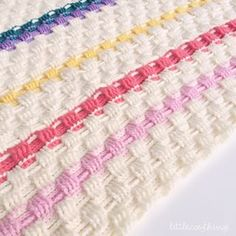 It's the last day of June, and with only 2 more months left of winter I MUST crochet faster!! A row of soft baby pink and a few more rows of cream added to my basket weave blanket