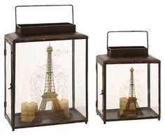 One Kings Lane - Get Global - S/2 Parisian Lanterns