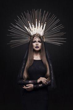Ivascu Cristina - Romina Pasculovici - hair necklace Alina Emandi - makeup concept Molnar Anca Make Up - designer Nifty Josephine - accessories Molnar Claudiu