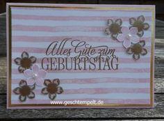 brushstrokes, stampin up, petite petals, geburtstagsgrüße für alle