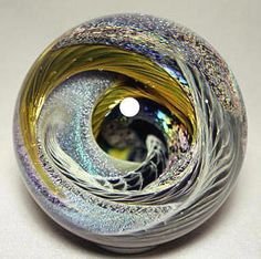 Deep Vortex Dichroic Spiral Galaxy by  Kevin  O'Grady