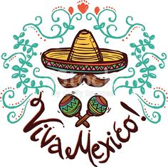 Vector Mexicanos Mexico idea with sketch sombrero maracas and floral decoration vector illustrat. Vector Mexicanos Obtain Mexican American, Mexican Art, Mexico Wallpaper, Hispanic Art, Mexico Culture, Mexico Style, Textured Background, Illustration, Images