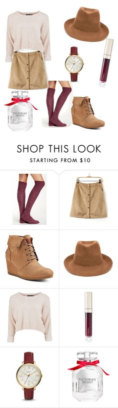 """""""Thanksgiving outfit"""" by minneymouse ❤ liked on Polyvore featuring Free Press, Mad Love, STELLA McCARTNEY, By Terry, FOSSIL and Victoria's Secret"""