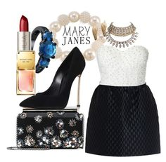 """mary janes"" by xiomara-ponce ❤ liked on Polyvore featuring Carolee, Ilia, Casadei, RED Valentino, Michael Kors and Oscar de la Renta"