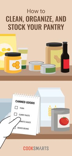 How to Clean, Organize, and Stock Your Pantry | Cook Smarts - How to Clean Pantry, How to Organize Pantry, Stock Your Pantry, Pantry Staples, Pantry Essentials, Pantry Inventory, Paleo Pantry List, Gluten-free Pantry List, Vegetarian Pantry List, Kitchen Organization Tips, Pantry Guide, Kitchen Cleaning
