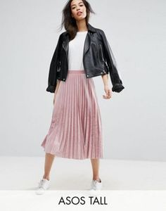 ASOS TALL Pleated Midi Skirt in Velvet http://us.asos.com/asos-tall/asos-tall-pleated-midi-skirt-in-velvet/prd/7635478?iid=7635478&clr=Palepink&SearchQuery=&cid=2639&pgesize=36&pge=0&totalstyles=434&gridsize=3&gridrow=8&gridcolumn=1