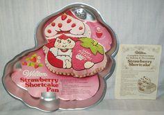 1981 STRAWBERRY SHORTCAKE Vintage Wilton Cake PAN with Original Insert & Instructions via Etsy