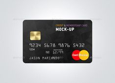 Buy Credit / Bank Card Mock-Up by Ayashi on GraphicRiver. Credit / Bank Card Mockup Features: 6 HQ PSD Presentations Fully editable via smart object's ON/OFF microchip Change. Compare Credit Cards, Best Credit Cards, Business Credit Cards, Business Card Design, Credit Card Design, Free Gift Card Generator, Bank Card, Visa Card, Free Gift Cards