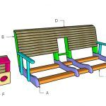 Building a porch swing with center console
