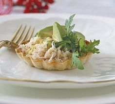 These versatile crab tarts are perfect for Christmas or celebratory meals