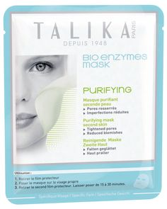 Talika Bio Enzymes Mask – Purifying: If you have combination, oily or black-head prone skin, are experiencing redness, enlarged or congested pores, then the Talika Bio Enzymes Purifying Mask would be an excellent choice.