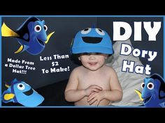 DIY Finding Dory Hat & Costume For Only $2 !!! - Materials From Dollar Tree
