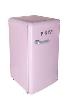 PKM Retro Kühlschrank Pink  A+ 88 L mit Gefrierfach Standgerät R 86.4