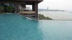 Infinity Pool at the Hilton Pattaya Hotel, Thailand Hotel Thailand, Pattaya, Family Travel, Pools, Infinity, Outdoor Decor, Blog, Family Trips, Infinite