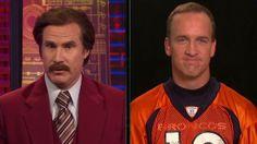 Ron Burgundy Interviews Peyton Manning. this is great!