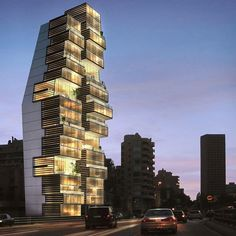 Beirut Residential Building by Accent Design Group in Lebanon. •#Arc_Only