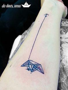 Tatto Barquinho de Papel Aquarela - Victor Octaviano - de … | Flickr