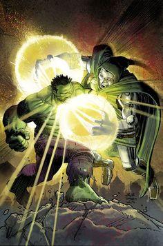 Hulk vs Doctor Doom by John Romita Jr Comic Book Artists, Comic Book Characters, Marvel Characters, Comic Artist, Comic Character, Comic Books Art, Hulk Marvel, Marvel Dc Comics, Marvel Heroes