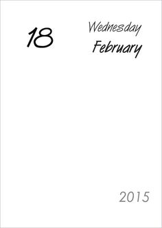 A5 Minimalist Daily Planner 2015 by digizines on Etsy