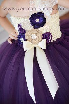 Plum, Lapis and Ivory Tutu Dress