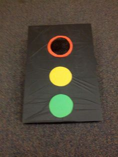 Simple Pinewood Derby Decorations-Bean bag toss.