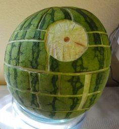 Death Star Watermelon from Just Jenn Recipes