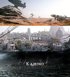 blog of awesome, the-savior-and-the-pirate:   SW Movies + Locations