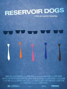 Fan póster minimalista de 'Reservoir Dogs' (1992)