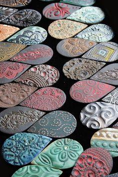Teardrop Cabochons by Lisa Peters Art, via Flickr