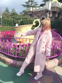 わたしは全身ピンクでいってきました〜 風強すぎたけど楽しすぎたーーー ジュエティ